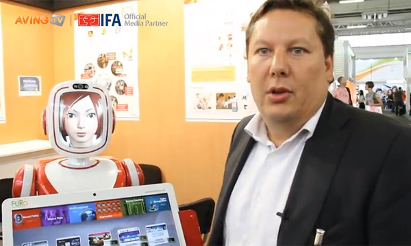 [IFA 2012 VIDEO] Future Robot introduce the mutual emotion service robot 'FURO'